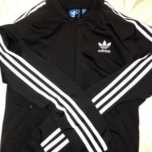 Black Adidas Zip Up Jacket